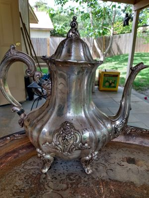 Antique silver plated ornate coffee tea service for Sale in Austin, TX