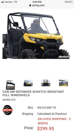 Can Am Defender windshield for Sale in Lake Worth, FL