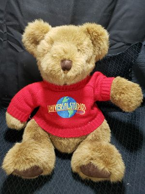 "Universal Studio brown teddy bear 10"" looks new for Sale in Zanesville, OH"