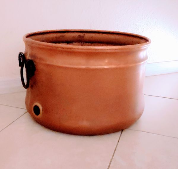 Signature Hardware Copper Kettle Hose Pot With Lid For