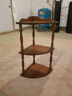 Corner wood shelf for Sale in Burlington, NJ