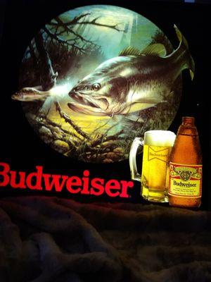 "Black Bass ""Budwiser"" Beer Bar light for Sale in Edgewood, NM"