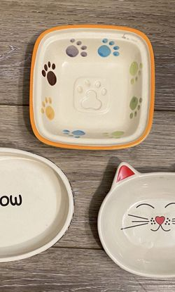 Cute Cat Food Trinket Dishes for Sale in Battle Ground,  WA