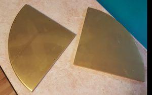 Gold Corner Shelves (2) for Sale in Rosemead, CA