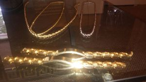 Gold and silver chains and bracelets for Sale in Lincoln, RI
