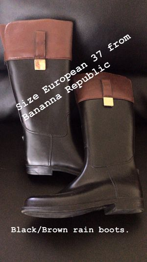 Banana Republic Rain Boots - Black/Brown for Sale in Sandy, UT
