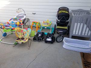 Baby Starter Kit Bundle: stroller, car seat, crib, swing for Sale in Buena Park, CA