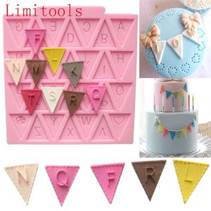 Silicone Alphabet Letter Flag Bunting Trays Cake Mold Fondant Decorating Tools for Sale in Portland, OR
