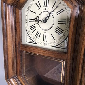 Vintage Howard Miller Wooden Wall Clock With Chimes for Sale in Nashville, TN
