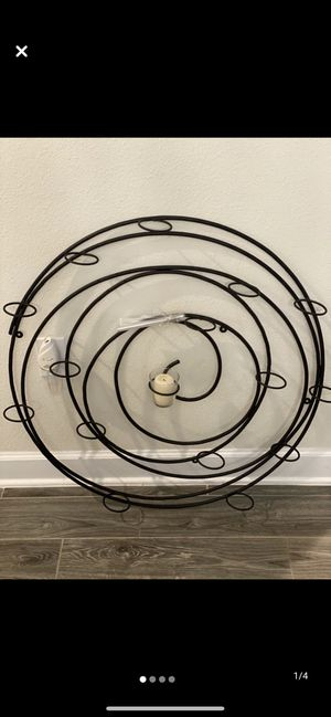 Black Iron Swirl Wall Sconce / Candle Holder for Sale in Davenport, FL