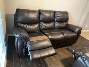 Couch is free ... does recline but is ripped on one end. for Sale in Houston, TX