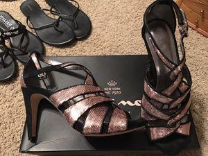 Nina Pink and Black sequin heels - 8 - $20 for Sale in Nolensville, TN