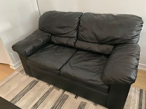 Black Leather Couch for Sale in New York, NY