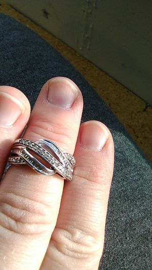 14 ctw diamond ring sterling silver for Sale in Ankeny, IA