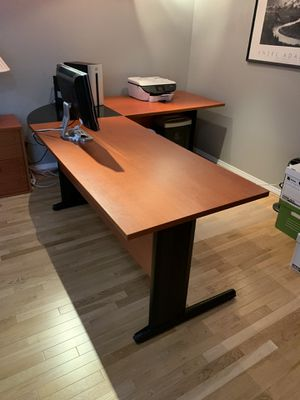 cherry finish office furniture for Sale in Vancouver, WA