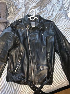 Zara man leather biker Moto jacket for Sale in Melrose Park, IL