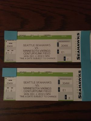 Seahawks vs Minnesota Vikings 2 tickets for Sale in Issaquah, WA