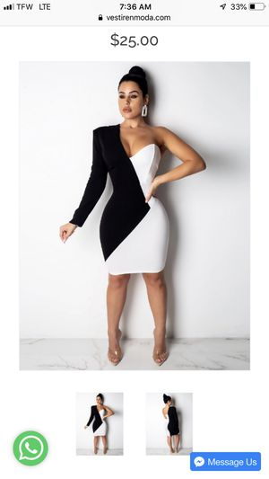 Black and white dress by @vestirenmoda for Sale in Englewood Cliffs, NJ
