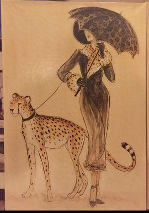 2 Beautiful Large Safari Jungle Canvas Art for Sale in Payson, AZ
