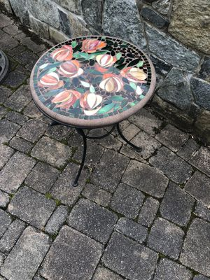 Mosaic table and matching wine rack for Sale in Centreville, VA