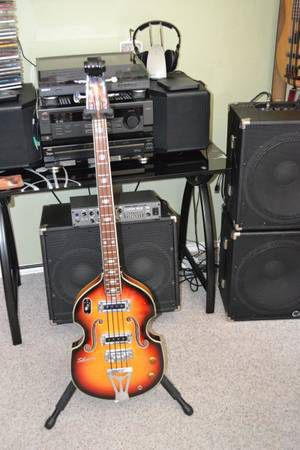 "1960's MIJ Violin ""beetle"" bass for Sale in Austin, TX"
