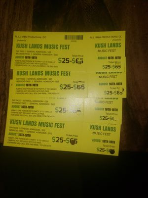 Kush L.ands Music Fest 2019 for Sale in Colorado Springs, CO