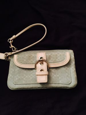 Baby blue coach wristlet for Sale in Colorado Springs, CO