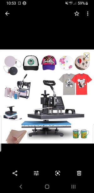 Thermal printer machine, $$$ print tshirts,hats, cups, plates and more ways to make money for Sale in San Dimas, CA