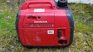 Eu2000i. Eu2000 inverter generator. Very quiet. Very clean. for Sale in Shoreline, WA