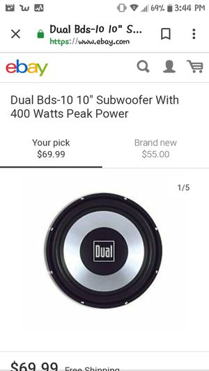 Dual 10-inch subwoofer works great for Sale in Johnston, RI