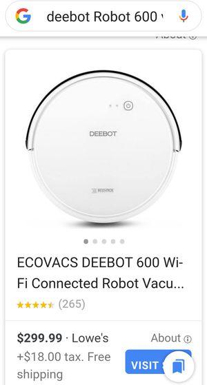 Deebot robot vacuum for Sale in Louisville, KY