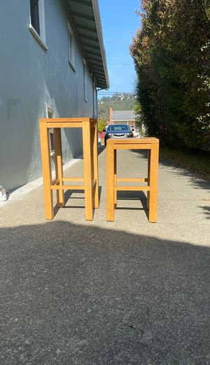 Wooden stools 2 Pairs short and tall for Sale in El Cerrito, CA
