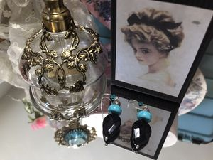 Pretty! Turquoise & Black Earrings for Sale in Bristow, VA