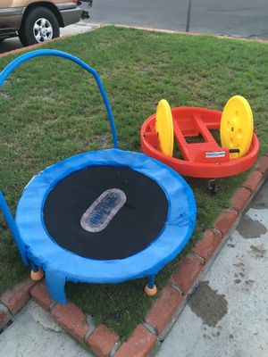 Free small trampoline and funky cycle for Sale in Lake Forest, CA