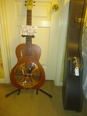 Gretsch Resonator Acoustic Guitar in solid mahogany perfect showroom condition with case! for Sale in Spring, TX