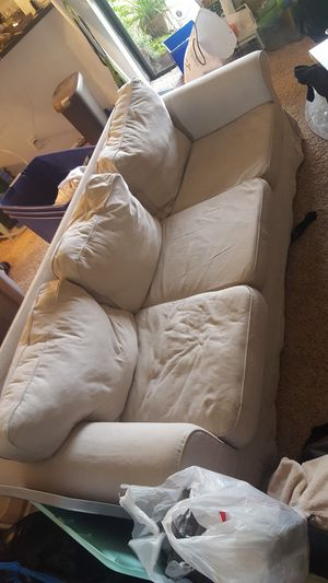 Free Couch (has a black cover set also) for Sale in St. Petersburg, FL