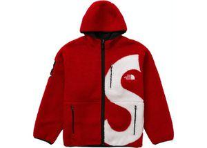 Supreme TNF S Logo Fleece Jacket-Red & Black Size Medium/Price Firm for Sale in Los Angeles, CA