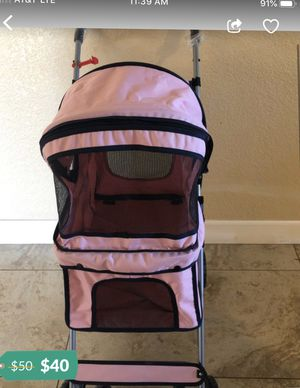 Brand new pink four Wheel dog stroller for Sale in Modesto, CA