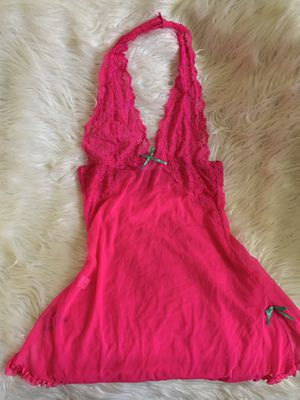 HOT PINK HALTER LACE SHEER MESH LINGERIE DRESS Xlarge for Sale in West Hollywood, CA