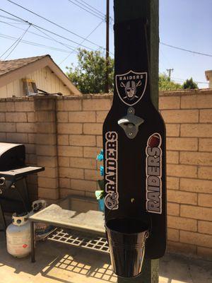 Raiders beer bottle opener Raiders bottle opener raiders hat raiders jersey raiders outdoor patio raiders LED Raiders neon for Sale in La Habra, CA