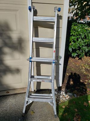 Werner Folding Aluminum Ladder, Extendable to 18' for Sale in Sammamish, WA