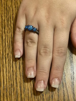 Round Blue Opal Fashion Vintage Ring, 8 for Sale in Gilroy, CA