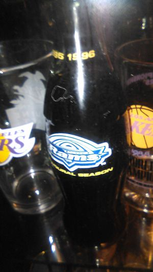 2003 Championship glass World Championship mug 1988 and Rams 1996 collectible Coca-Cola for Sale in South Gate, CA