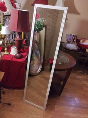 """WALL MIRROR 49.5"""" X 13.5"""" NORMAL WEAR EXCELLENT CONDITION $20.00 FIRM ENGLISH-SPANISH for Sale in Mesa, AZ"""