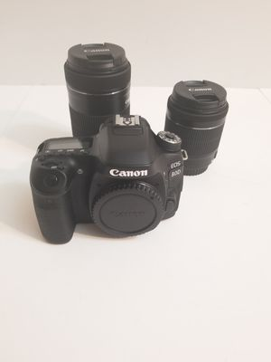 Canon EOS 80D 24.2 MP Digital SLR Camera - Black (with EF-S 18-135mm Lens) for Sale in Houston, TX