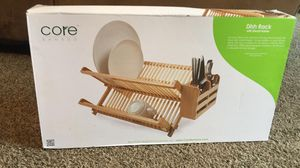 Beautiful Bamboo Dish Rack Utensil Holder Kitchen Counter Air Dry Storage Basket for Sale in Franklin, TN