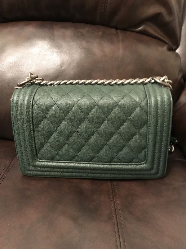 f4264fb322aa Chanel Boy bag - medium dark green for Sale in Bellevue, WA - OfferUp