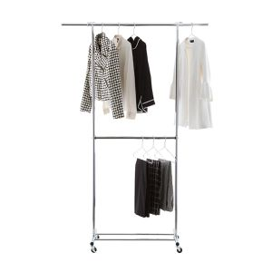 Chrome Metal Double Hang Clothes Rack for Sale in Tarpon Springs, FL