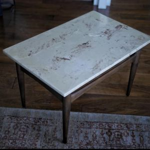 GORGEOUS! Solid Marble & Wood Mid Century Modern Side Table for Sale in San Jose, CA