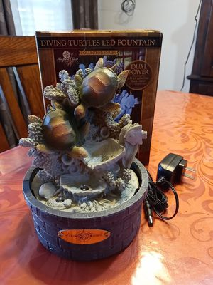 Diving turtles led fountain for Sale in El Paso, TX